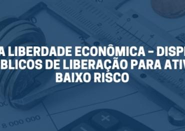 LEI DA LIBERDADE ECONÔMICA – DISPENSA DE ATOS PÚBLICOS DE LIBERAÇÃO PARA ATIVIDADES DE BAIXO RISCO